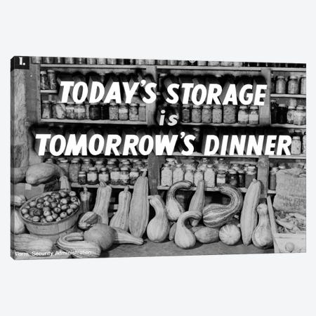 Today's Storage, Tomorrow's Dinner Canvas Print #PCA391} by Print Collection Canvas Art Print