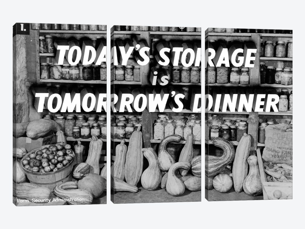 Today's Storage, Tomorrow's Dinner by Print Collection 3-piece Canvas Print