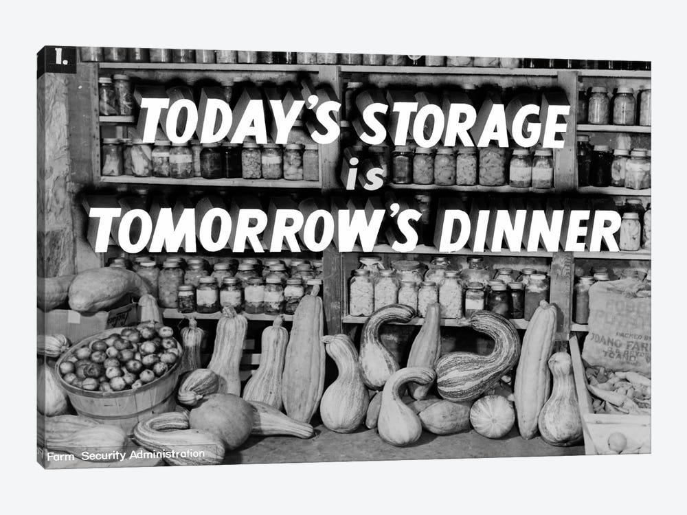 Today's Storage, Tomorrow's Dinner by Print Collection 1-piece Canvas Art Print