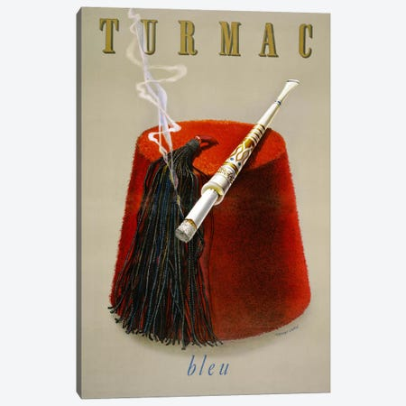 Turmac Bleu Canvas Print #PCA392} by Print Collection Art Print