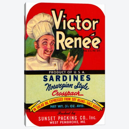 Victor Renée Sardines Canvas Print #PCA394} by Print Collection Canvas Art