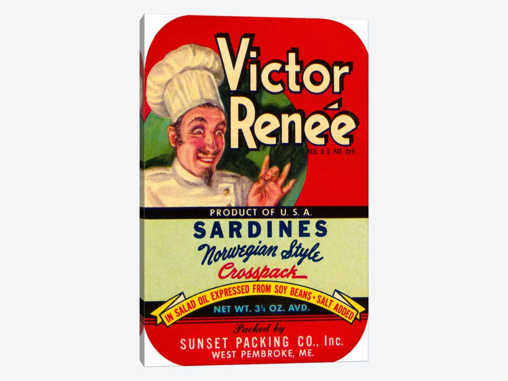 Victor Renée Sardines by Print Collection 1-piece Canvas Art