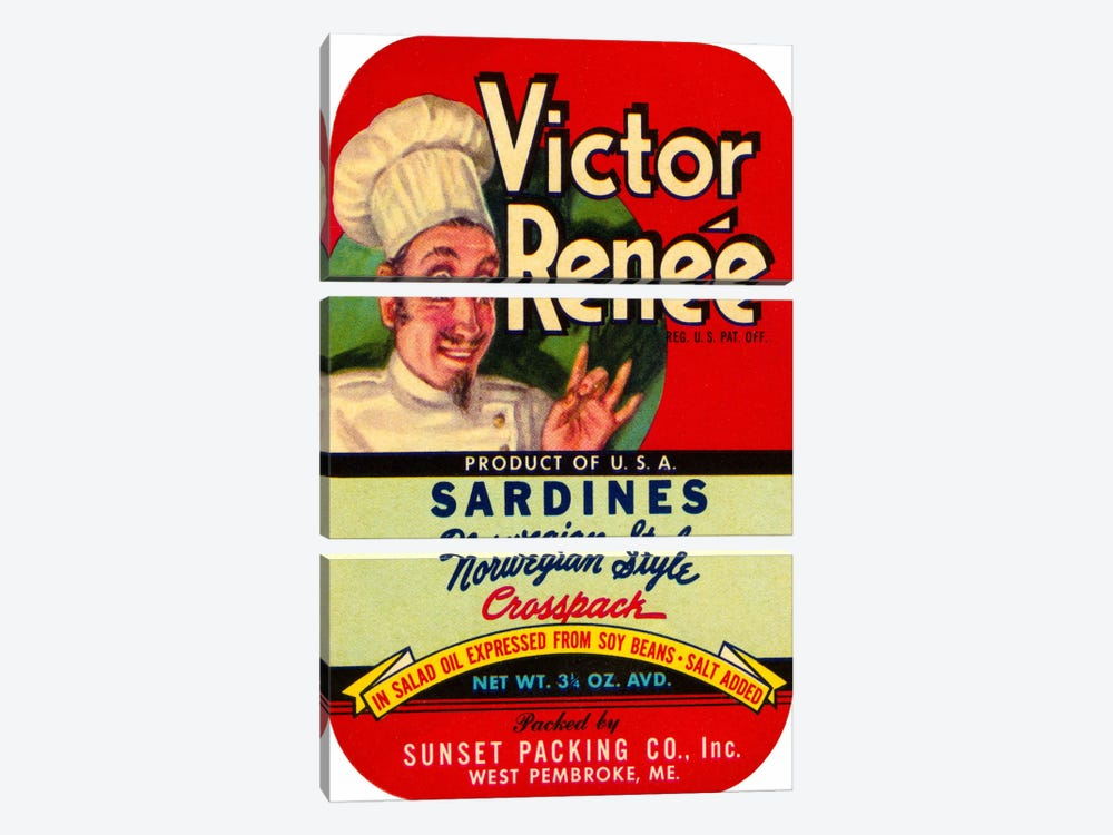 Victor Renée Sardines by Print Collection 3-piece Canvas Wall Art