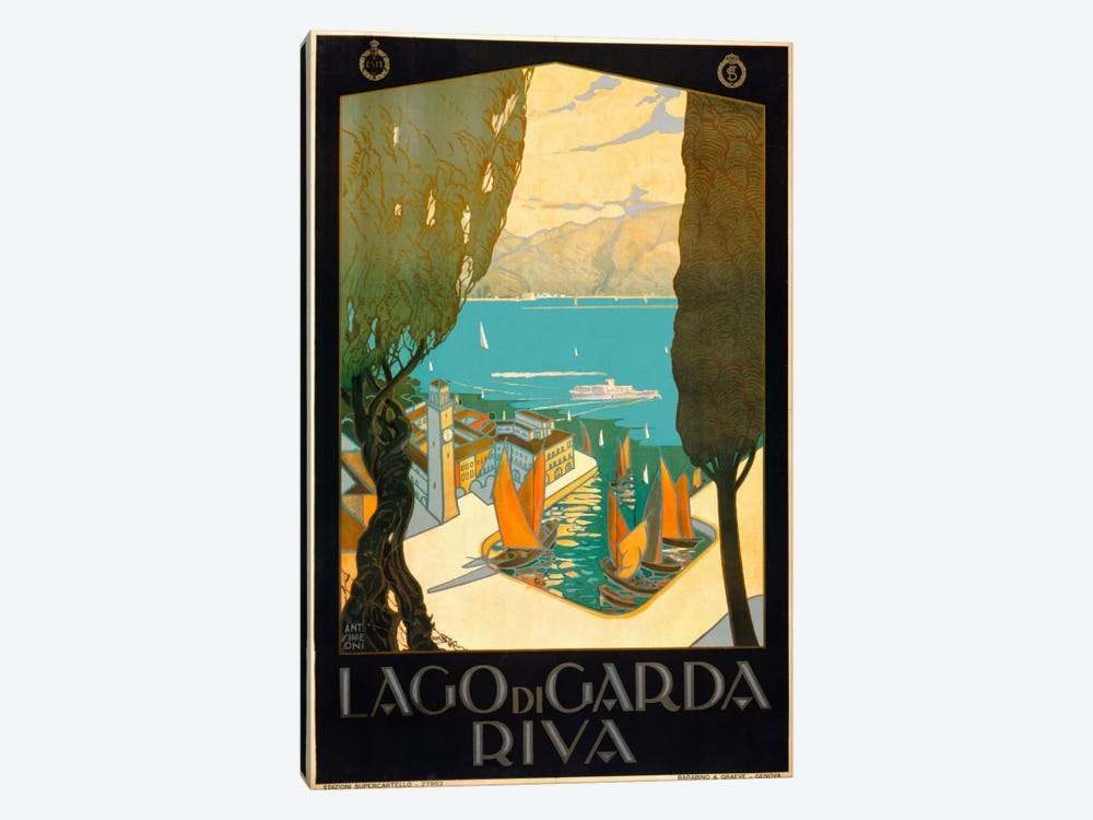 Wharf on Lake Garda Italy by Print Collection 1-piece Canvas Art Print