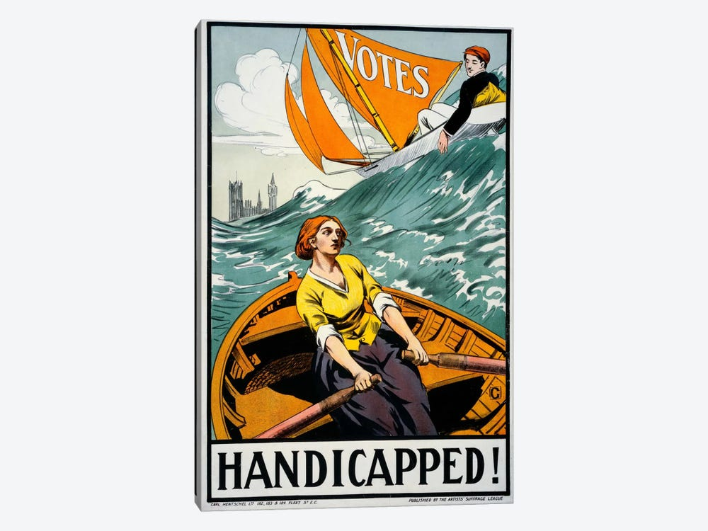 Women's Suffrage, Handicapped, London! by Print Collection 1-piece Canvas Artwork