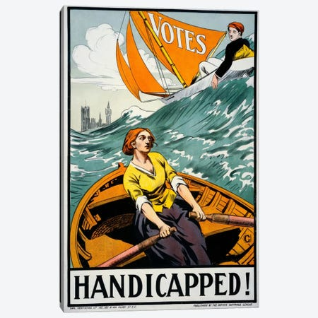 Women's Suffrage, Handicapped, London! Canvas Print #PCA396} by Print Collection Canvas Artwork