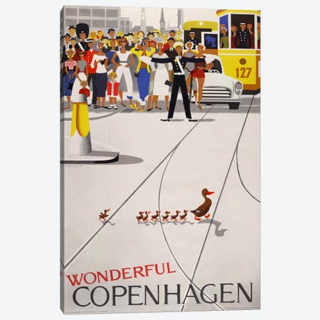 Wonderful Copenhagen Canvas Print #PCA397} by Print Collection Canvas Wall Art