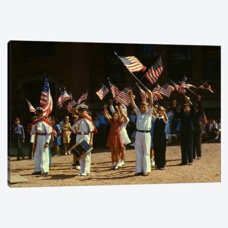 1942 Child Patriots, CT Canvas Print #PCA399} by Print Collection Art Print