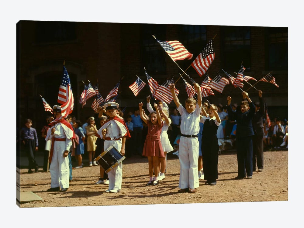 1942 Child Patriots, CT by Print Collection 1-piece Canvas Print