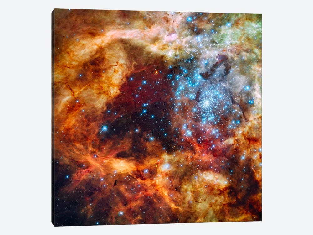 30 Doradus in Ultraviolet, Visible, and Red Light by Print Collection 1-piece Canvas Print