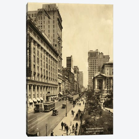42nd Street East from 6th Avenue Canvas Print #PCA403} by Print Collection Canvas Print