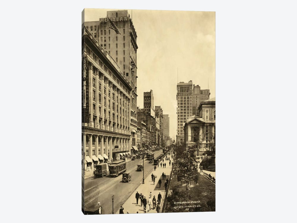 42nd Street East from 6th Avenue by Print Collection 1-piece Canvas Print