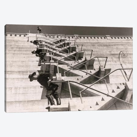 A Fire Escape on a Dam Canvas Print #PCA407} by Print Collection Canvas Art
