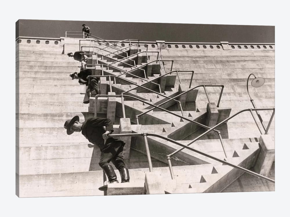 A Fire Escape on a Dam by Print Collection 1-piece Canvas Art Print