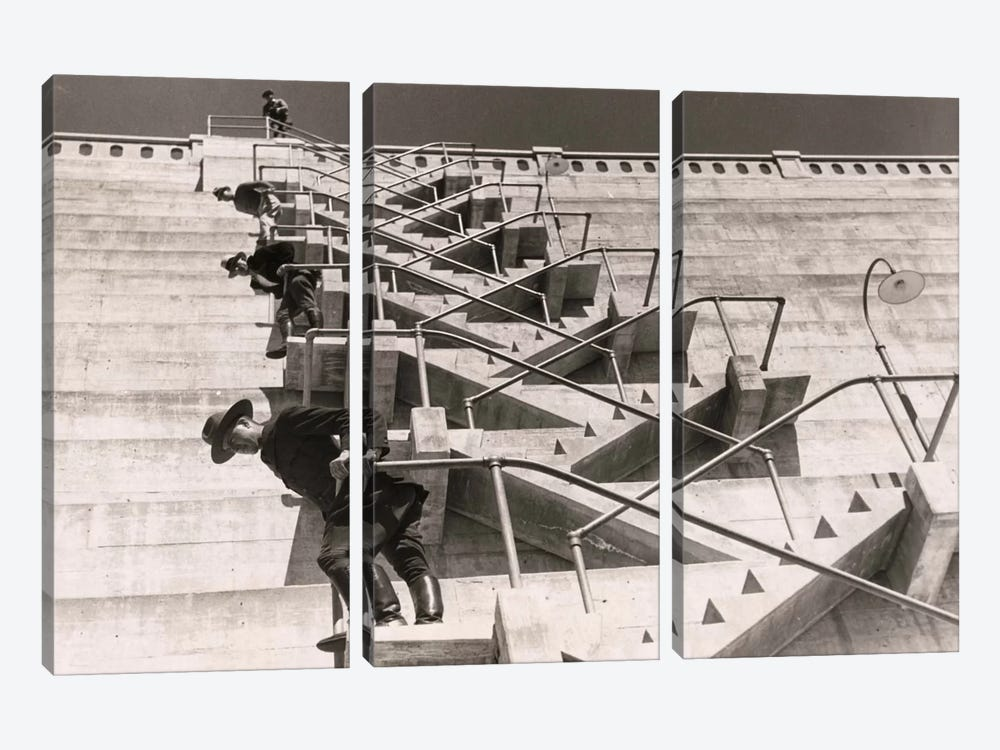 A Fire Escape on a Dam by Print Collection 3-piece Art Print