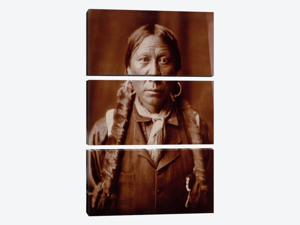 A Jicarilla Man, by Edward Curtis by Print Collection 3-piece Canvas Art Print