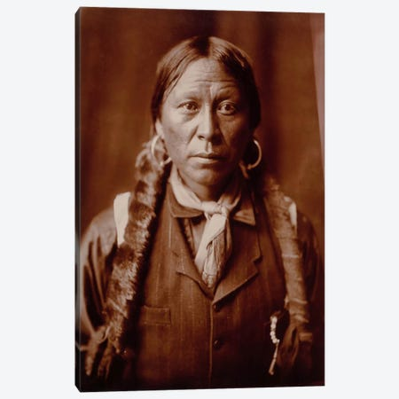 A Jicarilla Man, by Edward Curtis Canvas Print #PCA409} by Print Collection Art Print
