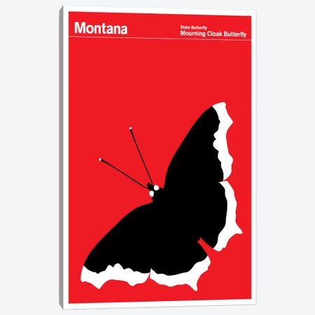 State Posters MT Canvas Print #PCA40} by Print Collection Canvas Wall Art
