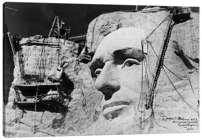 Abraham Lincoln on Mount Rushmore Canvas Print #PCA416