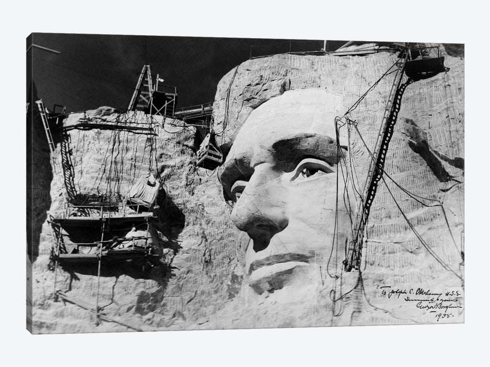 Abraham Lincoln on Mount Rushmore by Print Collection 1-piece Art Print