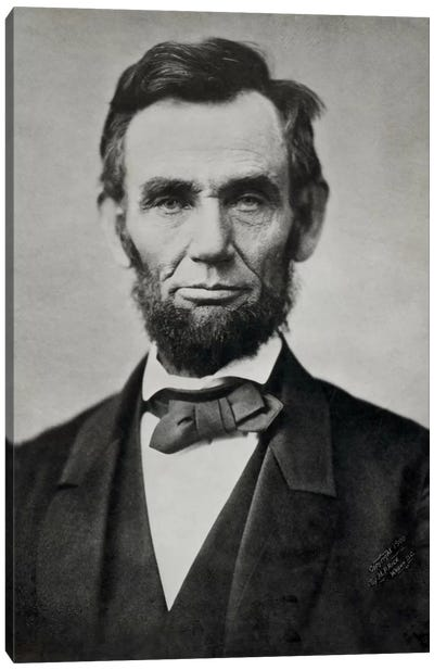 Abraham Lincoln, Head and Shoulders Canvas Art Print