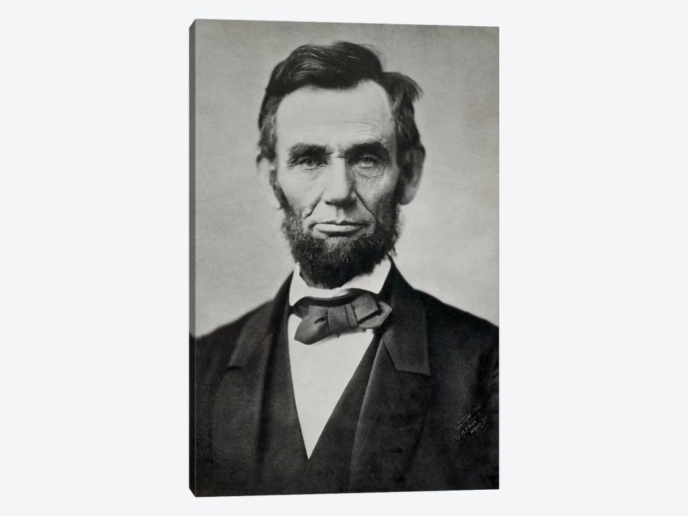 Abraham Lincoln, Head and Shoulders by Print Collection 1-piece Art Print
