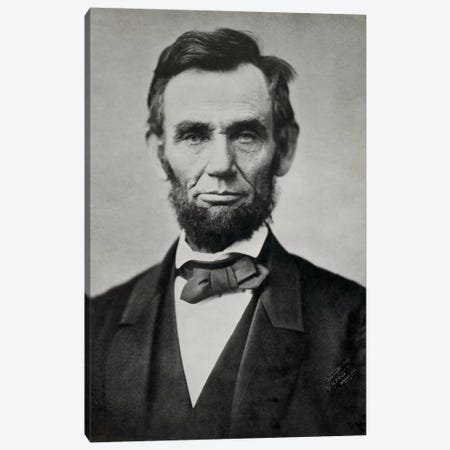 Abraham Lincoln, Head and Shoulders Canvas Print #PCA418} by Print Collection Canvas Artwork