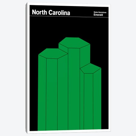 State Posters NC Canvas Print #PCA41} by Print Collection Canvas Art