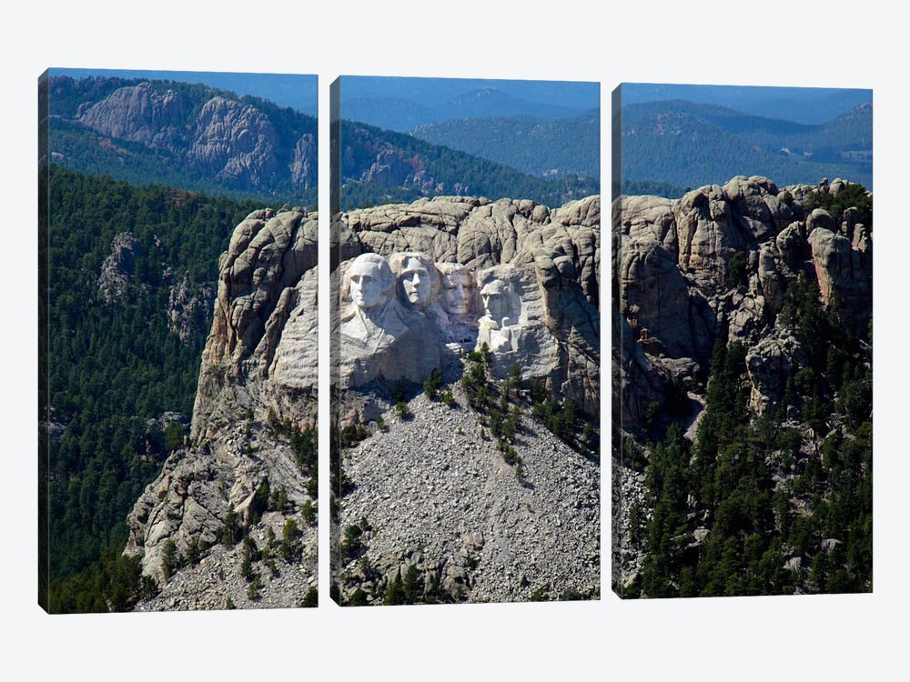 Aerial View, Mount Rushmore by Print Collection 3-piece Canvas Art