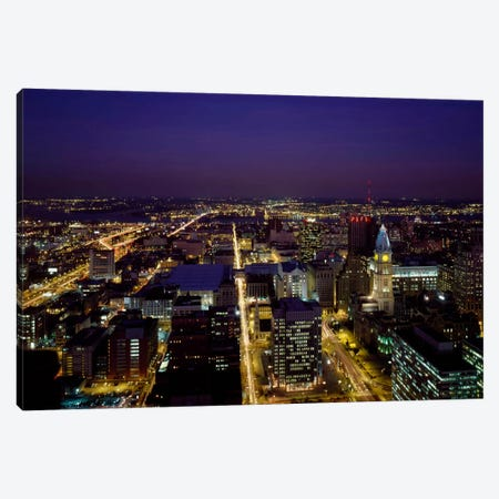 Aerial View, Philadelphia, Pennsylvania Canvas Print #PCA425} by Print Collection Canvas Wall Art