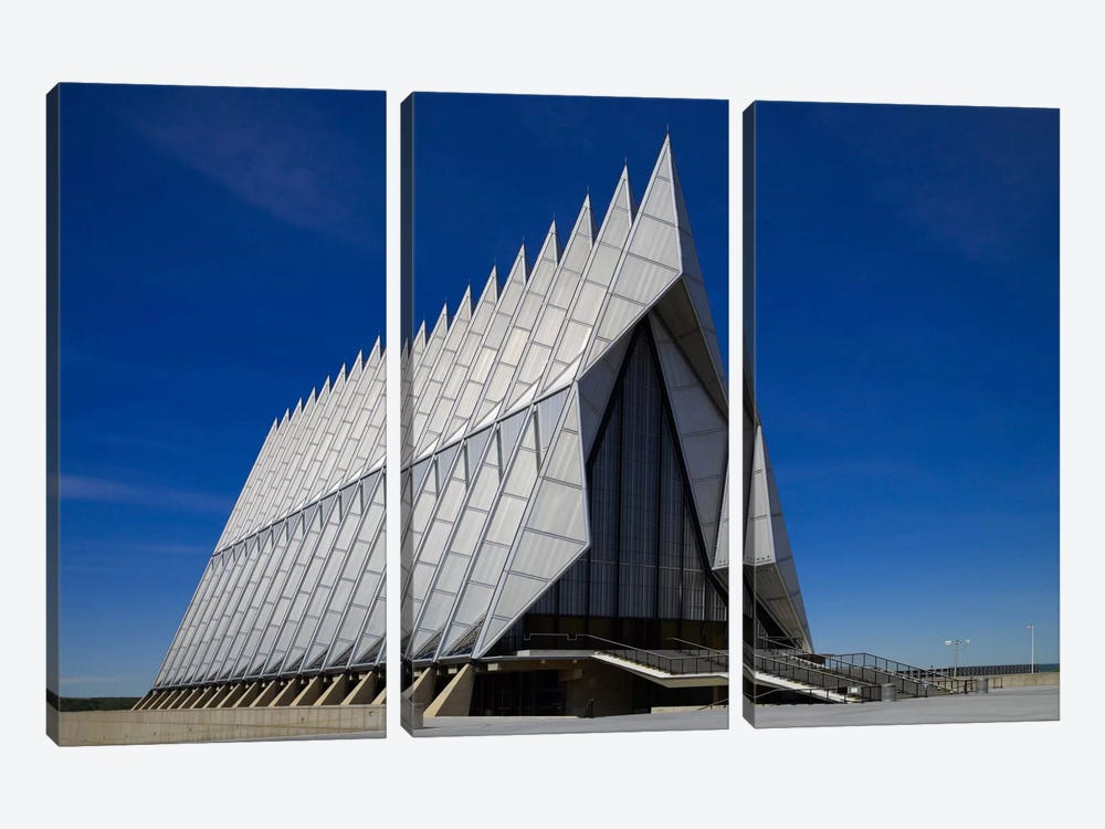 Air Force Academy Chapel Coloradon Springs by Print Collection 3-piece Canvas Print