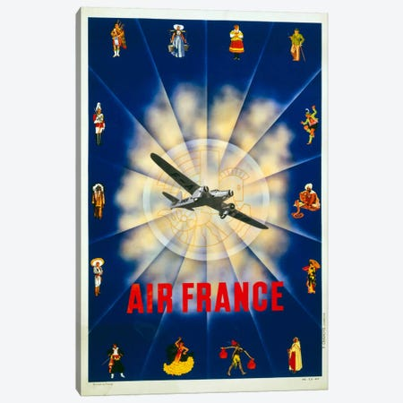 Air France by P. Chanove Canvas Print #PCA428} by Print Collection Canvas Print