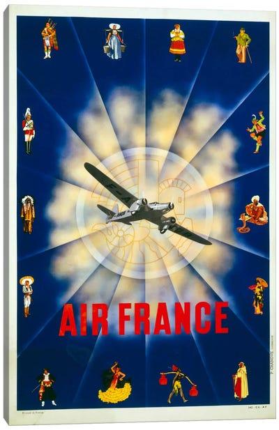 Air France by P. Chanove Canvas Print #PCA428