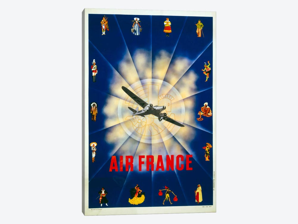 Air France by P. Chanove by Print Collection 1-piece Canvas Wall Art