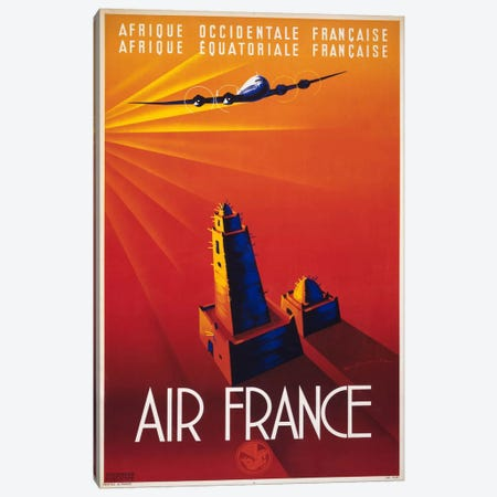 Air France to Africa Canvas Print #PCA429} by Print Collection Art Print