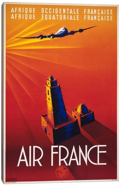 Air France to Africa Canvas Art Print