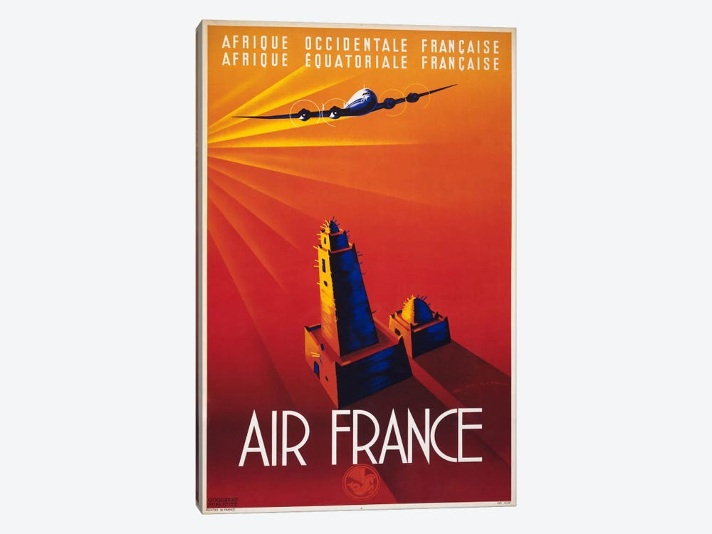 Air France to Africa by Print Collection 1-piece Art Print