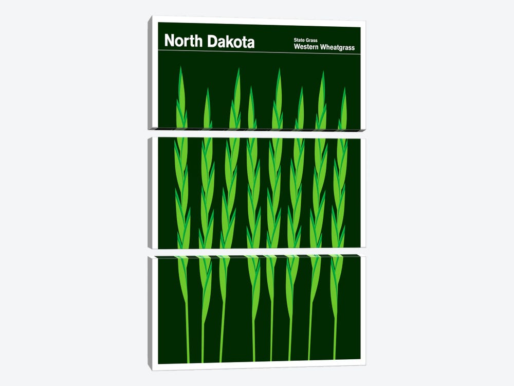 State Posters ND by Print Collection 3-piece Art Print