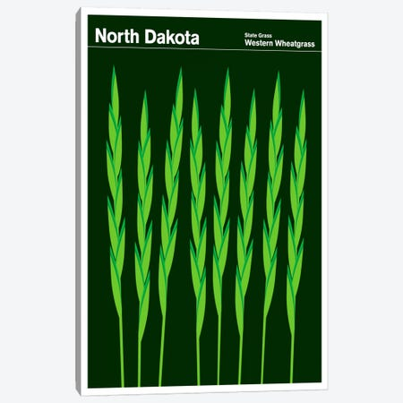 State Posters ND Canvas Print #PCA42} by Print Collection Canvas Wall Art