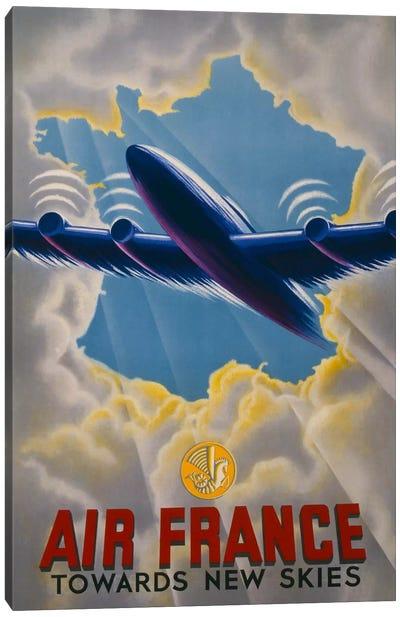 Air France Towards New Skies Canvas Print #PCA430