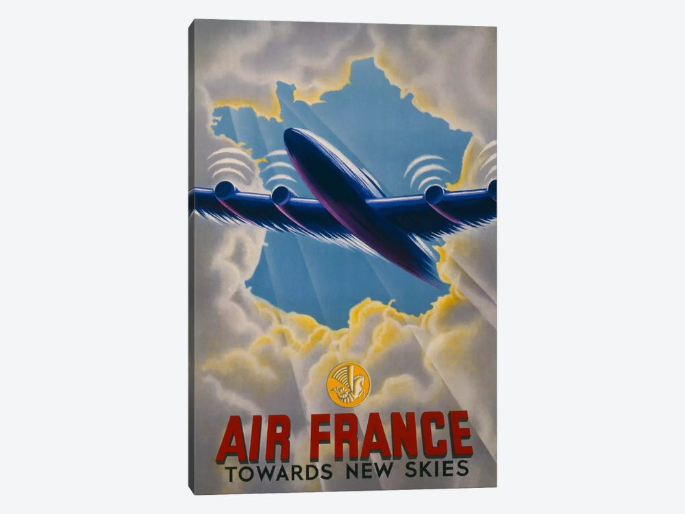 Air France Towards New Skies by Print Collection 1-piece Canvas Art Print