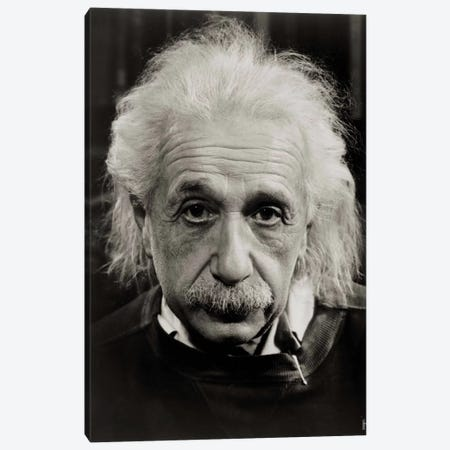 Albert Einstein Canvas Print #PCA431} by Print Collection Canvas Art