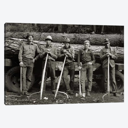 American Loggers, 1939 Canvas Print #PCA436} by Print Collection Canvas Art Print