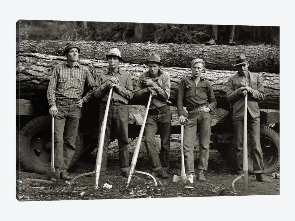 American Loggers, 1939 by Print Collection 1-piece Art Print