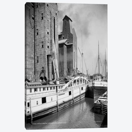 An Old Timer at C.T.T. Grain Elevator, Buffalo, N.Y. Canvas Print #PCA442} by Print Collection Art Print