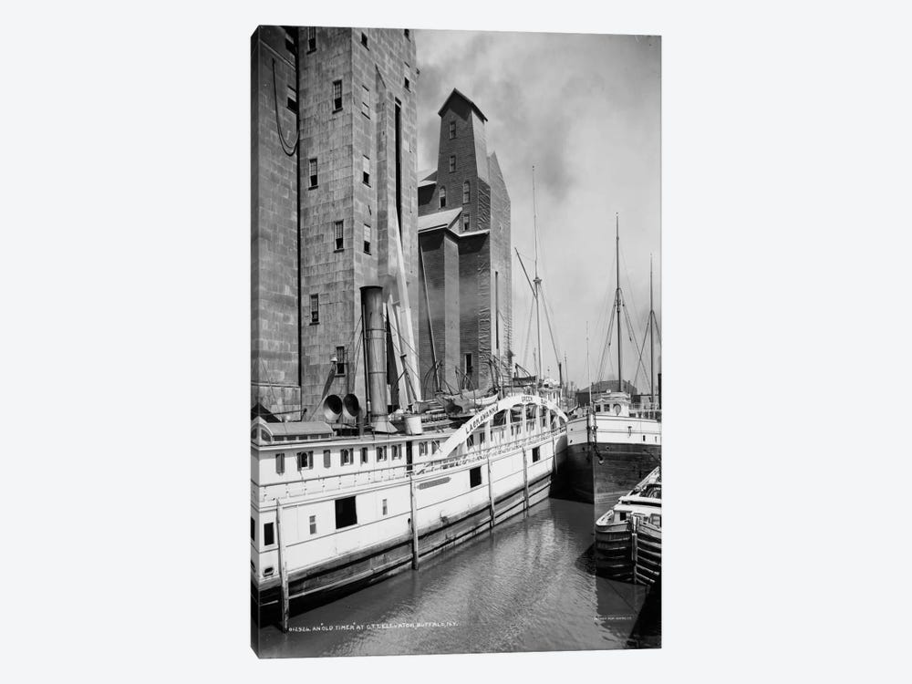 An Old Timer at C.T.T. Grain Elevator, Buffalo, N.Y. by Print Collection 1-piece Canvas Art
