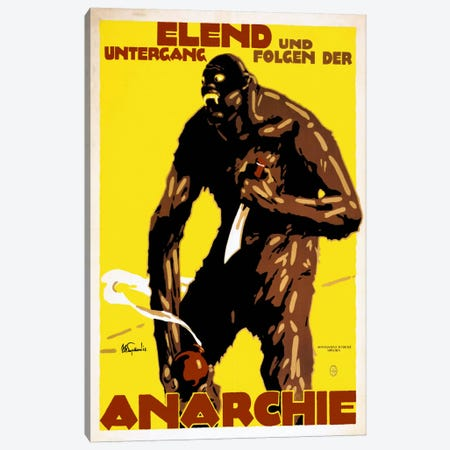 Anarchist Monster Canvas Print #PCA443} by Print Collection Art Print