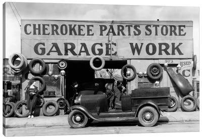 Auto Parts Shop. Atlanta, Georgia Canvas Print #PCA451