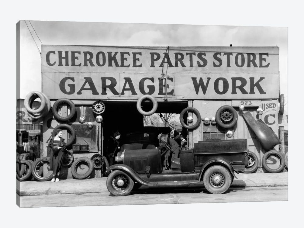 Auto Parts Shop. Atlanta, Georgia by Print Collection 1-piece Canvas Wall Art