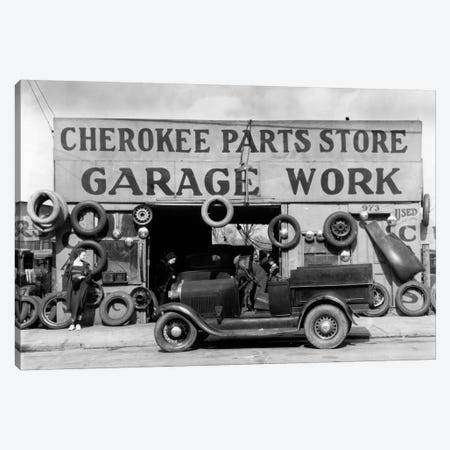 Auto Parts Shop. Atlanta, Georgia Canvas Print #PCA451} by Print Collection Canvas Artwork